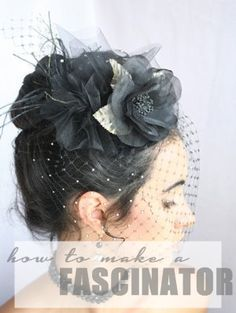 to Make a Fascinator How to Make a Fascinator! The easy way.How to Make a Fascinator! The easy way. Fascinator Diy, Black Fascinator, How To Make Fascinators, Hairstyles With Fascinators, Hair Fascinators, Tea Party Hats, Burlesque Costumes, Burlesque Clothing, Halloween Costumes