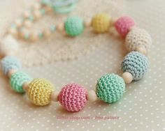 How to make a crocheted nursing necklace- free pattern, yum, thanks so xox