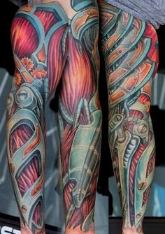biomechanical color tattoos - Google Search
