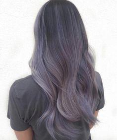 Cheveux lilas