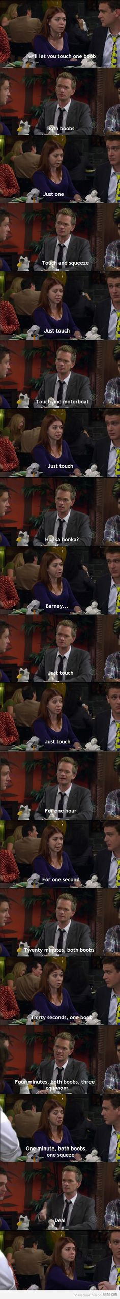 Barney Stinson Making business!!! This guy is truly one of the funniest guys ever. Everyone sees him as Neil Patrick Harris and gay. But I see him as Barney Stinson from How I met your Mother and a very funny man!
