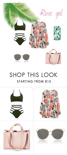 """Tropical Beach Vibes."" by olympia-valance ❤ liked on Polyvore featuring Corto Moltedo, Christian Dior and Nikki Strange"