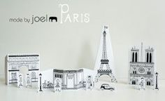 Free printable paper cities--just added...Paris!