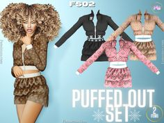 FamSimsssss - Puffed Out - Set FS02 More info, pictures &... The Sims 4 Skin, The Sims 4 Pc, Sims 4 Teen, Sims 4 Toddler, Sims 4 Cas, Sims Cc, Sims 4 Cc Kids Clothing, Sims 4 Mods Clothes, Sims 4 Game Mods