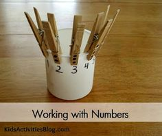 {Early Learning} Working with Numbers- fun math learning tool