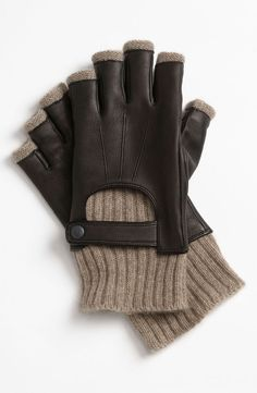 John Varvatos Star USA Fingerless Driving Gloves - $95.00