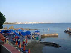 View 2 from the stairs of the beach and sea of Castiglioncello