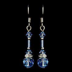 Crystals, Dangle, Earrings, Jewelry, Light Blue, Rhinestones, Sale, Silver, Swarovski Crystal Beads