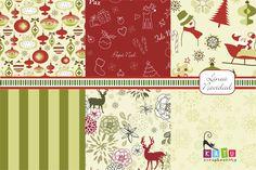 Linea Navidad: 6 motivos. Medida de c/hoja: 30 x 36 cm papel libre de ácido de 180 grs Con impresión de frente. #paper #papel #scrap #scrapbooking #navidad #christmas