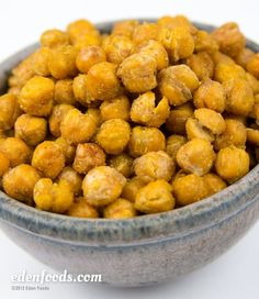 Cumin & Garlic Roasted Garbanzo Beans  #recipe