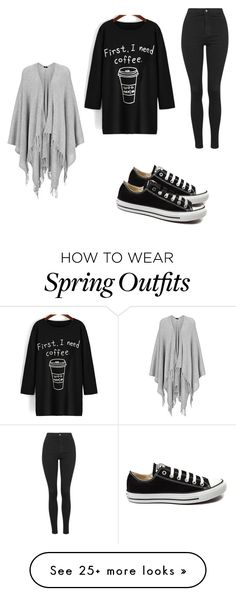 """A little wake up outfit for you. (◔ᴗ◔)"" by abbycochran on Polyvore featuring Joseph, Topshop, Converse, women's clothing, women, female, woman, misses and juniors"