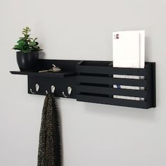 Keep your entryway organized with this Kiera Grace Sydney mail holder wall shelf. Apartment Decorating On A Budget, Diy Home Decor On A Budget, Affordable Home Decor, Apartment Ideas, Cute Apartment Decor, First Apartment Tips, Apartment Entrance, Apartment Kitchen, Interior Decorating