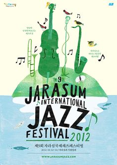 Jarasum Jazz festival poster collection on Behance
