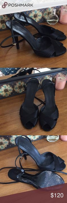 Gucci Black elegant heels size 9 Very elegant Gucci black heels. Worn just a few times (literally like 3-4 times), great condition! Purchased from Saks 5th Avenue. Size 9B Gucci Shoes Heels