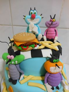 Larva Cartoon Cake Design : 1000+ images about Oggy on Pinterest Cakes, Birthday ...