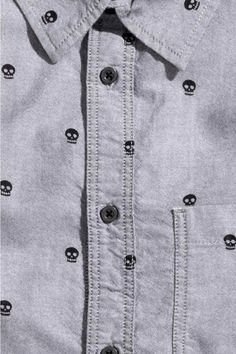 Camisa estampada cambray | H&M