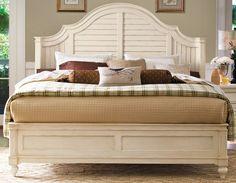 antique white bedroom paula deen furniture | Universal Furniture Paula Deen Home-Linen Queen Steel Magnolia Bed