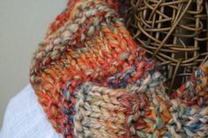 Hand Knit Wool Cowl Scarf in Vintage by LilRedKnittingHood on Etsy, $35.00