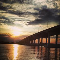 Pascagoula MS Bridge Sunset