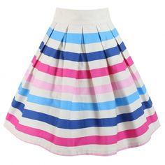 49fe4c725a2d LindyBop pruhovaná sukně Ice Cream Oblečení