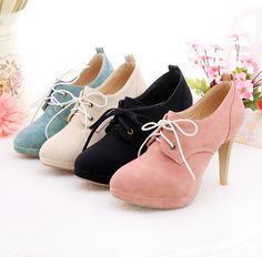 a8157db5a19 2014 ankle boots women fashion short lace up boot winter footwear high heel  shoes sexy snow