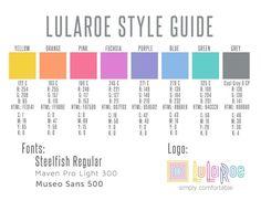 Lularoe color guide