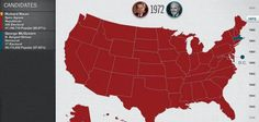 10 de noviembre de 1972: Nixon gana un segundo periodo presidencial.