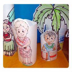Luau paper dolls