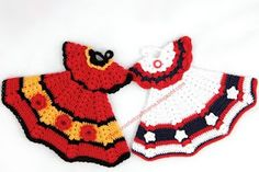 Dress crochet potholders