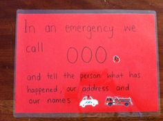 Prepare your children for EMERGENCIES 000 or 911. http://www.kidsactivitiesandtipsforeveryday.blogspot.com.au/