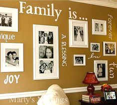 Combine Vinyl Decals and Family Photos
