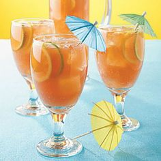 Tropical Fruit Punch cocktail from MakeMeACocktail.com