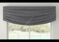 Contemporary Window Valance Cornice by SewDecor on Etsy
