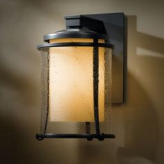 Meridian Outdoor Wall Sconce by Hubbardton Forge Exterior Lighting, Outdoor Wall Lighting, Modern Lighting, Electrical Fixtures, Transitional Lighting, Outdoor Wall Sconce, Mason Jar Lamp, Land Scape, Glass Shades