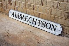 3ft Personalized Last Name Sign - Real Estate Closing Gift