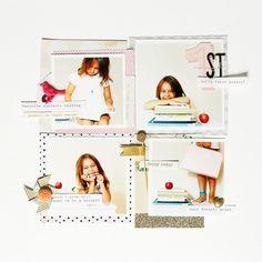12X12 Scrapbook Layout | Scrapbooking Ideas | Scrapbook Page | Creative Scrapbooker Magazine  #scrapbooking #12X12layout #Startingascrapbook