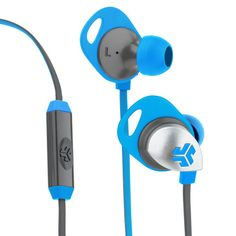 Electric Blue / Graphite Epic Premium Earbuds - JLab Audio Holiday Gift Guide 2015 - Best Gifts For Him