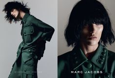 Welcome to our Marc Jacobs SS15 army of models.  Anja Rubik shot by David Sims, styling by Katie Grand, hair by Guido Palau, makeup by Diane Kendal.