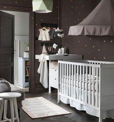 ikea catalog black and white baby nursery - Google Search