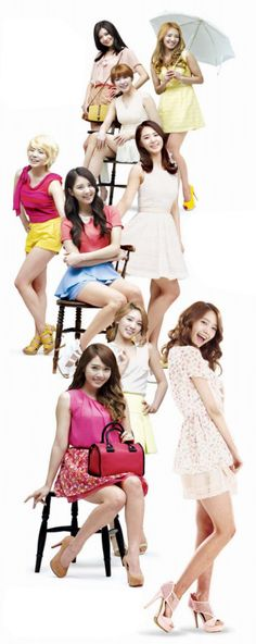"""From their hot CFs to their gorgeous photos. Check out SNSD's pretty promotional pictures for """"Lotte Department Store"""""""