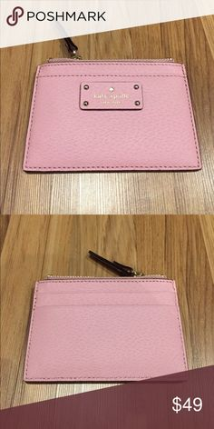 NEW Kate Spade Grove Street Adi Card & Coin Holder Beautiful Brand New Kate Spade Adi Card and Coin holder Wallet in pink bonnet. Pink Bonnet is a soft pink. Perfect for carrying cards and coins when you need a small wallet. kate spade Bags Wallets