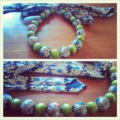 Recycled Fashion: Upcycled Necktie Beaded Necklaces