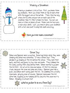 Chit Chat and Small Talk: /S/ Loaded Paragraphs for Winter and Christmas (could be used in language as well)