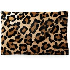 Mrs Robinson Leopard Print Clutch ($215) ❤ liked on Polyvore featuring bags, handbags, clutches, purses, carteras, accessories, natural, hand bags, leather man bags and leopard clutches