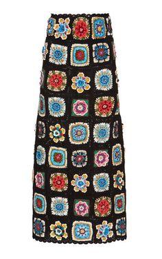 Hand Woven Knit Skirt by Dolce & Gabbana Handgewebter Strickrock von Dolce & Gabbana Moda Crochet, Crochet Motif, Crochet Designs, Hand Crochet, Crochet Patterns, Crochet Coat, Crochet Jacket, Crochet Cardigan, Crochet Skirts