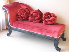 westhouse: Import furniture Princess furniture goblin witch Samantha couch sofa red rococo soundless and stealthy steps Funky Furniture, Unique Furniture, Home Decor Furniture, Vintage Furniture, Furniture Design, Furniture Removal, Quality Furniture, Furniture Ideas, Red Sofa