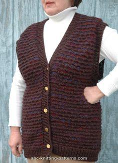 ABC Knitting Patterns - Two-Tone Seamless Vest