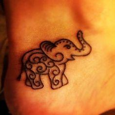 Elephant tattoo...Indian symbol of power
