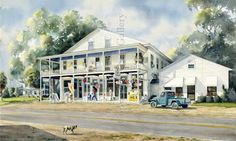 local artist in Beaufort, SC Country Art, Low Country, Country Living, Coastal Living Magazine, Seaside Towns, Artist Gallery, Local Artists, South Carolina, Roads