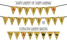 HAPPY CAMPER ING Wild West Camping Banner  Instant by BashandDash
